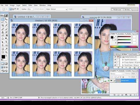 passport size photo in photoshop| make 8 passport size photos in photoshop in less than 2 minuts