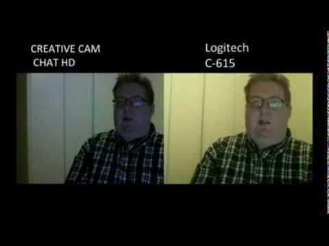 Creative Live! Cam Chat HD VS Logitech c-615 kuva vertailut.