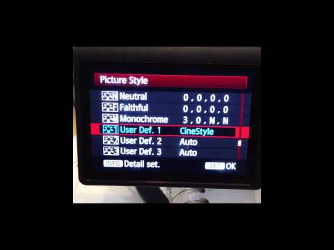 Installing Cinestyle on your Canon T3i DSLR Camera