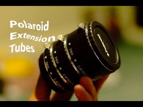 Polariod extension tubes for Canon DSLR
