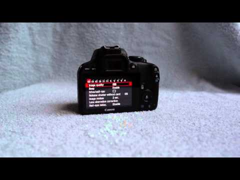 Canon EOS Rebel SL1 / Kiss X7 / 100D DSLR camera – unboxing – 360° view – samples – menu browsing