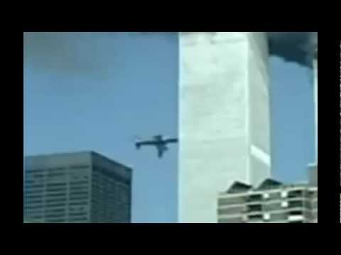 9/11 Plane Wing Disappears Video Compositing