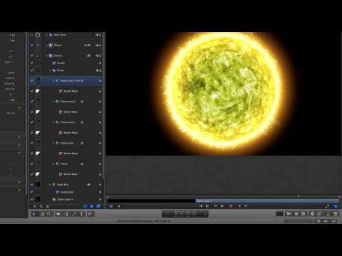 Apple Motion 5: Fiery Planet Tutorial Part 2 – Compositing the Scene