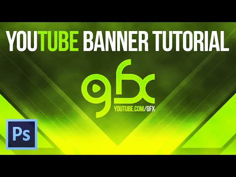 How To Make A YouTube Banner V.1 (Graphic Design Tutorials)