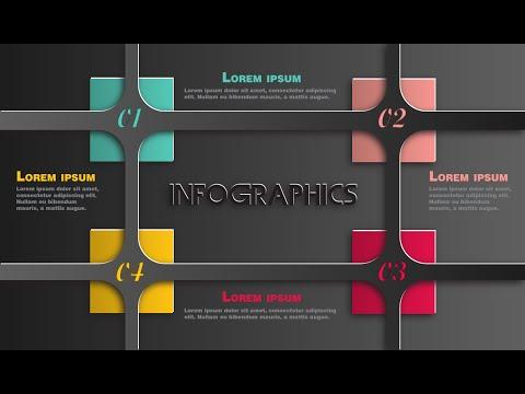 Illustrator CC Tutorial | Graphic Design | Infographics (Cutout)