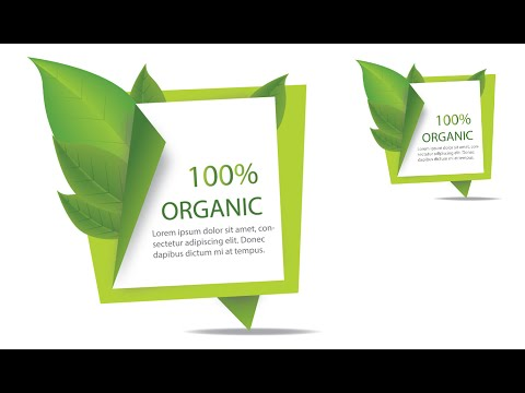 Illustrator Tutorial | Graphic Design | Vector Banner (Organic)