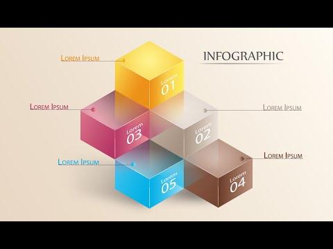 Illustrator Tutorials | 3D Graphic Design | Infographic 01