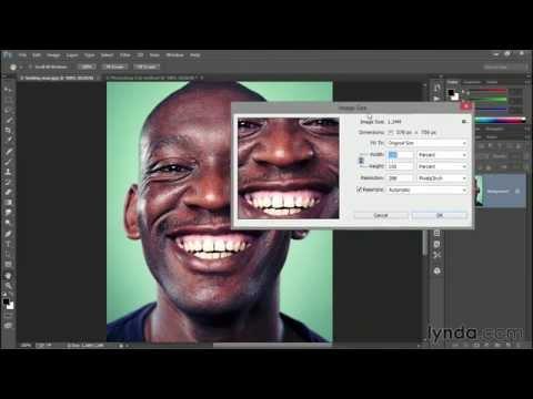 Enlarging a low-res photograph | Photoshop | lynda.com