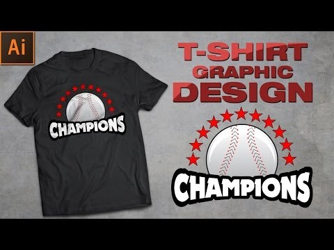 Illustrator Tutorial: How to create Tshirt graphic design.