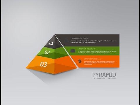 Photoshop Tutorial Graphic Design Infographic Translucent Pyramid