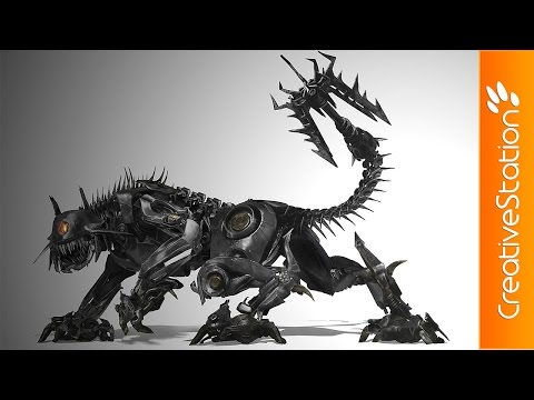 Decepticon Ravage – Speed Painting (#Photoshop)   CreativeStation