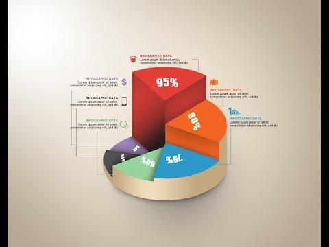 Photoshop Tutorial Graphic Design | Infographic Circle Graph