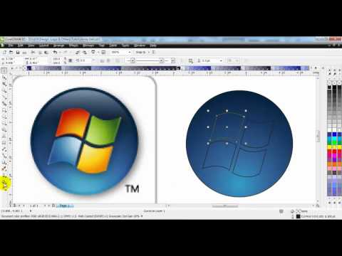 CorelDraw X5 Windows 7 Logo Redraw Tutorial