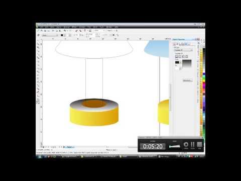 how to design a light sleeper vector using coreldraw x5