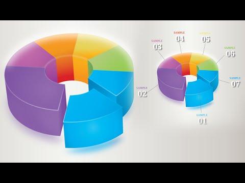 Illustrator Tutorial | Graphic Design | 3D Infographics (pie)