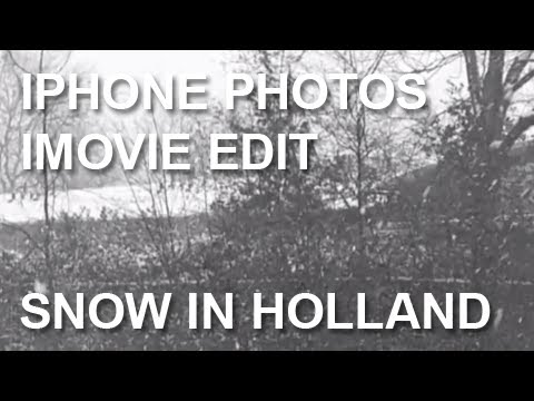 Winter: Snow in  Holland | iMovie iLife '11 Movie Test | iPhone 4 Photos & Video