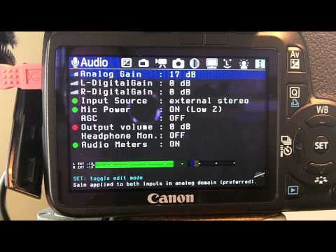 iRig Pre DSLR audio test with Canon T2i and Magic Lantern