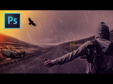 Photoshop Manipulation Tutorial : Dark Rainy Night