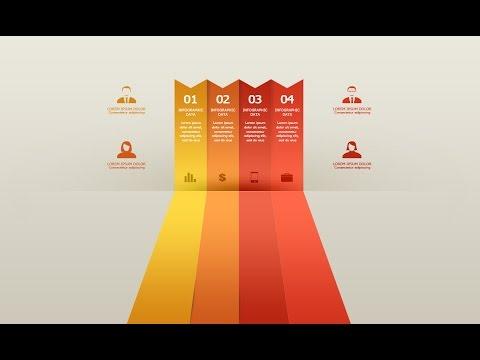 Photoshop Tutorial Graphic Design Infographic Ribbon Minimal