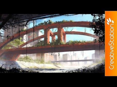 Red Bridge – Speed Painting (#Photoshop) | CreativeStation