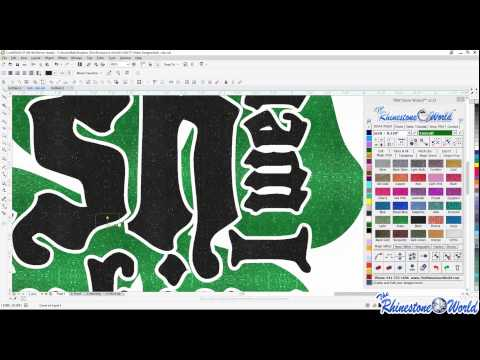How to create a Unique Team Logo Design using Corel Draw and the TRW Stone Wizard (2/11/2015)