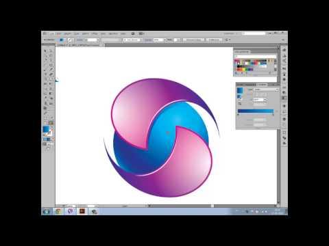 Adobe Illustrator Tutorial: How to create 3D logo – sample 11 [HD]