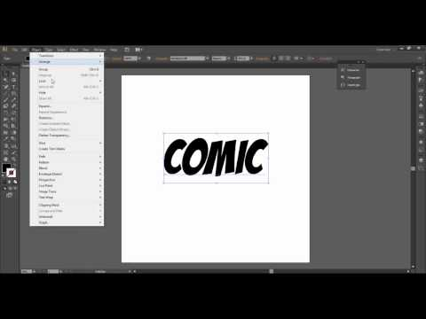 How to make COOL comic style text in Illustrator