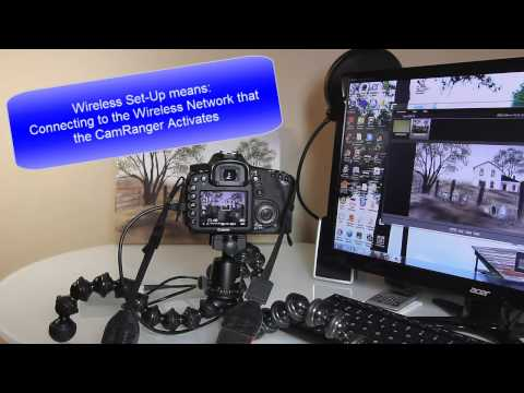 CamRanger Wireless Digital SLR Remote Control for Canon or Nikon DSLR Cameras Using iPad or iPhone