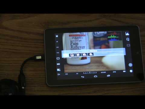 Control your Canon DSLR from a Nexus 7, Xoom, Android Devices