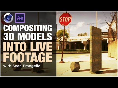 Cinema 4D Compositing Tutorial – Adding 3D Models into Footage using the Composite Background tag