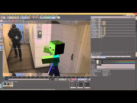 Tutorial 1/2 – Cinema4D – Minecraft Compositing Zombie 3D Render into live action footage