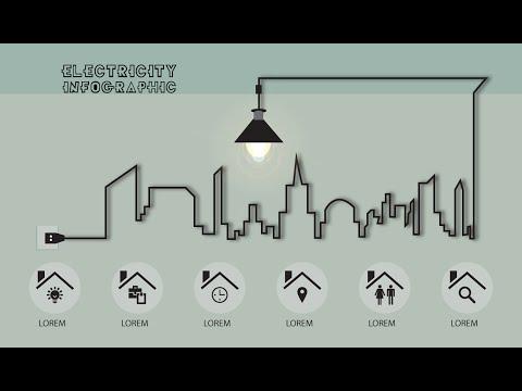 Illustrator CC Tutorial | Graphic Design | Infographic (Electricity)