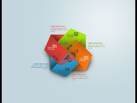 Photoshop Tutorial Graphic Design Infographic Abstract Number