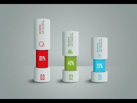 Photoshop Tutorial – Graphic Design Infographic Cylinder