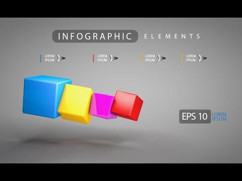 3D Graphic Design Infographic | Photoshop Cinema 4D C4D Tutorial 04