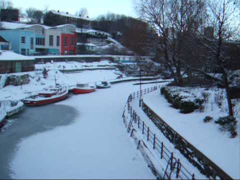 Newcastle snow, Ouseburn frozen. Digitalab & F Stop Gallery's Joe Cornish exhibition