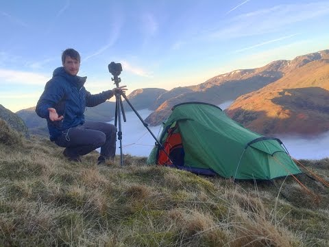 Solo Wild Camping & Landscape Photography on Location – Lake District Cloud Inversion